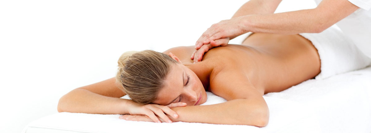 women getting a massage